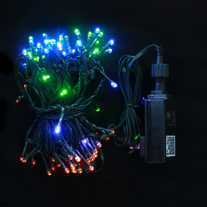 Multicolor 100 LED Connectable Plug-in String Lights (31 ft.)
