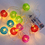 Mesh Multicolor Battery Operated String Lights, Strand of 10