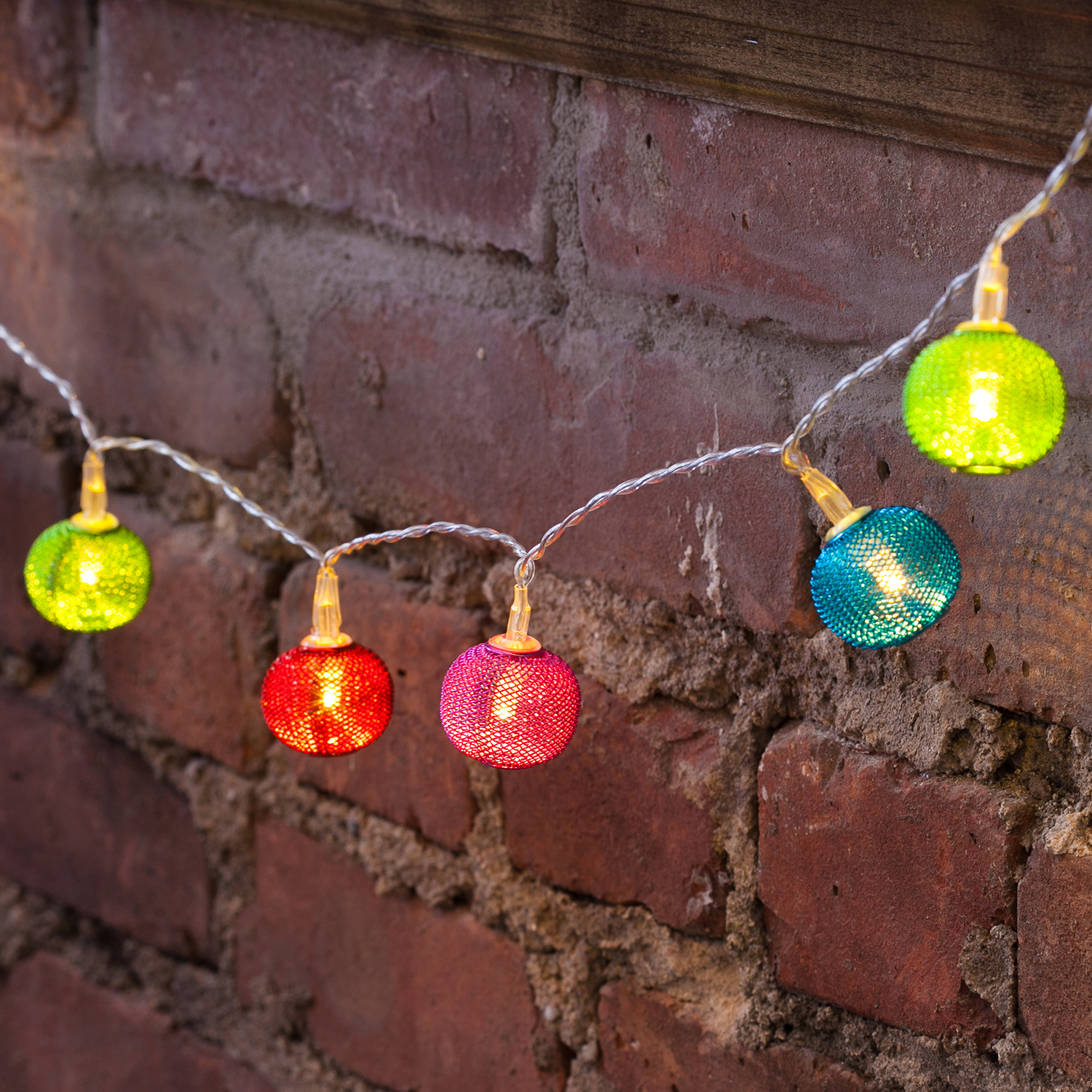 Globe String Lights Battery Operated Leds : Lights.com String Lights Decorative String Lights Mesh Multicolor Battery Operated String ...