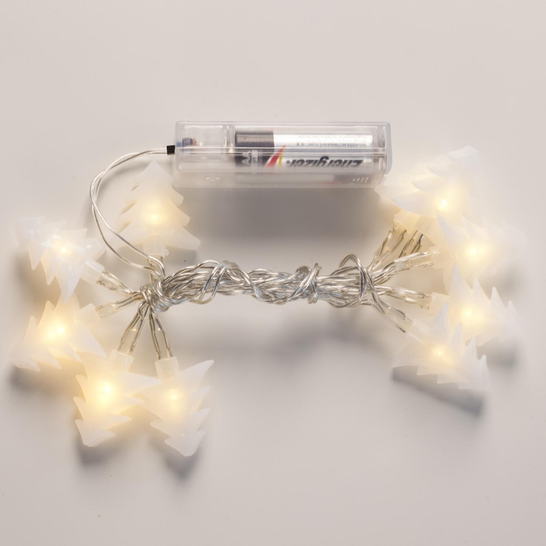 Lights.com String Lights Christmas Lights White Tree LED Battery String Lights