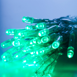 Extra Bright Green 30 LED Battery String Lights