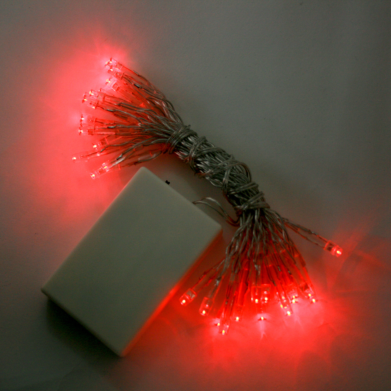 Lights.com String Lights Christmas Lights Extra Bright Red 30 LED Battery String Lights