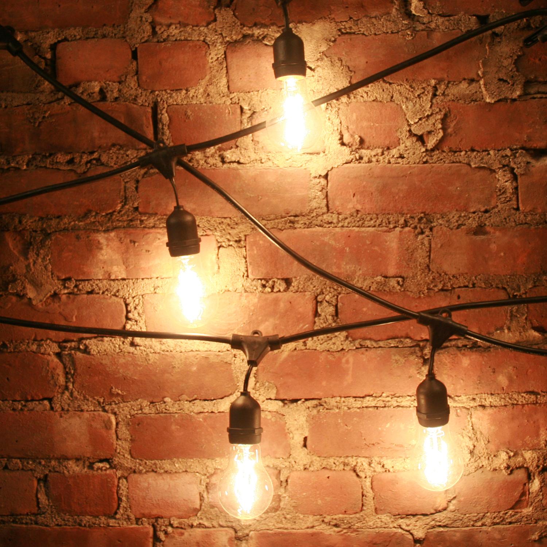 Lights.com String Lights Vintage String Lights Heavy Duty 10-Socket Vintage Light Plug-in ...