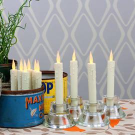 Edie Mini Resin Drip Taper Candles - Set of 10