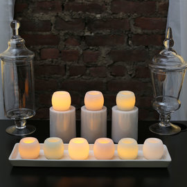 Mini Pastel Candles with Keepsake Box, Set of  9