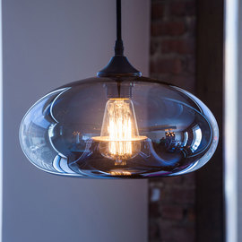 Greenwood Glass Pendant with Vintage Bulb