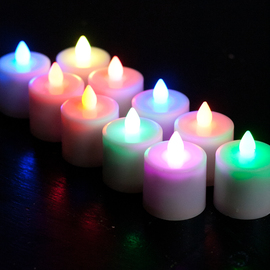 Rechargeable Color Changing Tea Lights with Remote, Set of 12