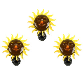 Solar Celestial Sun Window Lights, Set of 3