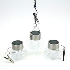 Acrylic Warm White Solar Hanging Lanterns, Set of 3