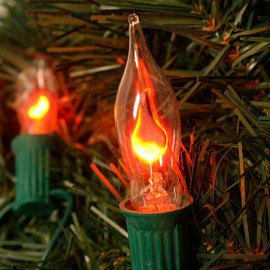 Flickering Flame Plug-in String Lights, Strand of 7