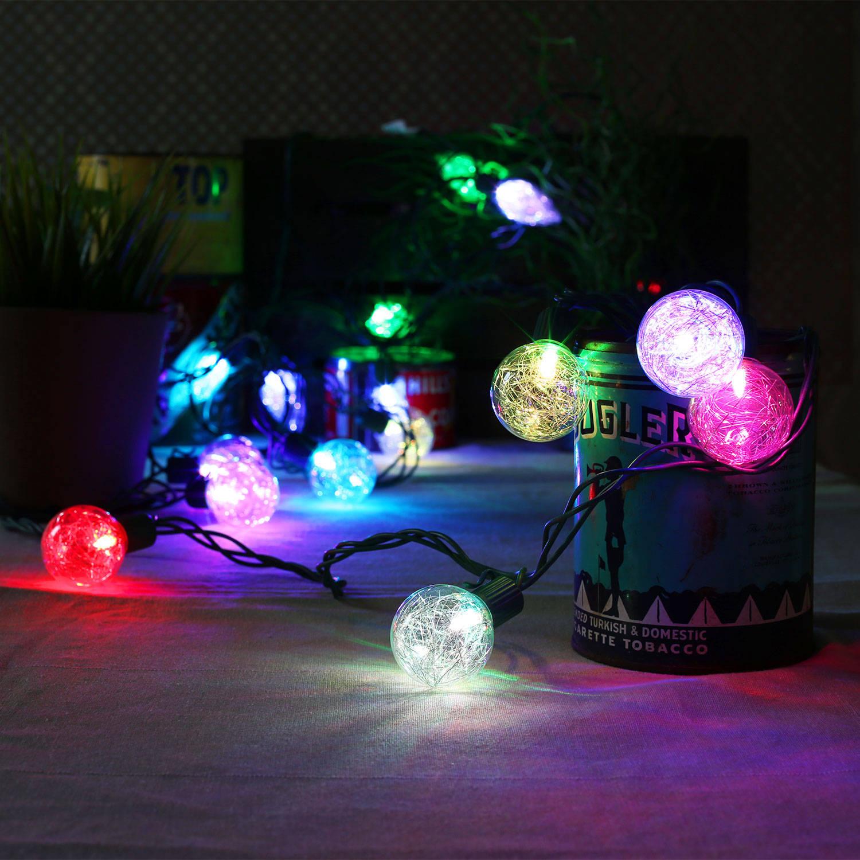 Lights.com String Lights Christmas Lights Color Changing Tinsel Plug-in String Lights ...