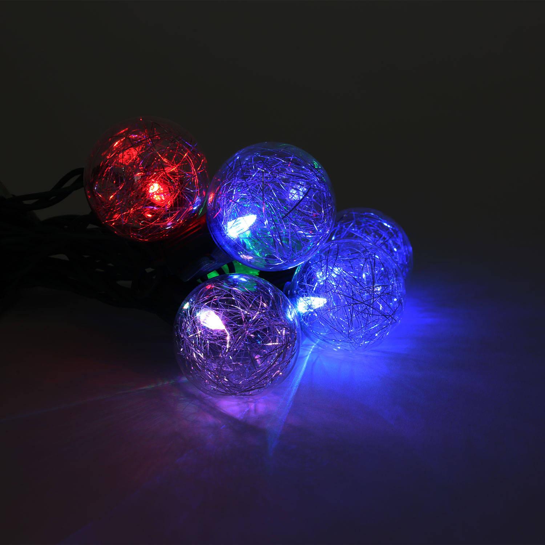 Lights.com Lit Decor String Lights Decorative Lights Color Changing Tinsel Plug-in ...