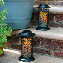 Cirque Outdoor Lantern with Flameless Candle and Remote, Set of 2