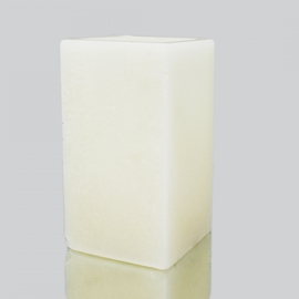 "Square Wax Candle Shell - Ivory 3"" x 7"""