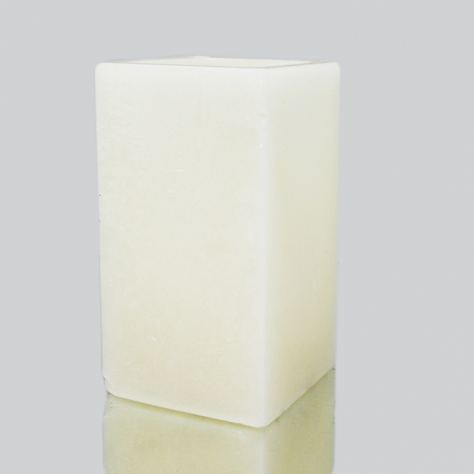"""Square Wax Candle Shell - Ivory 3"""" x 7"""""""