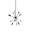 12-Light Sputnik Pendant in Chrome, Small