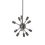 12-Light Sputnik Pendant in Pewter, Small