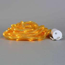 Gold Mesh 100 LED Connectable Battery Rope Lights