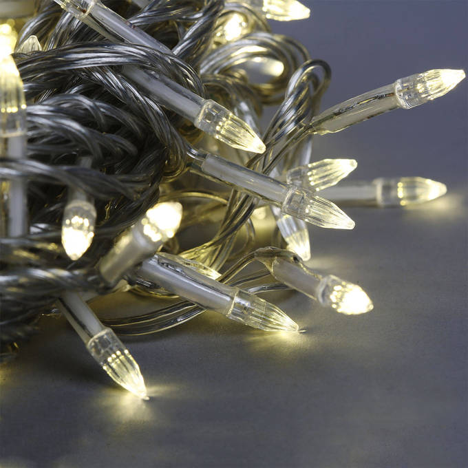 Soft White 200 LED Clear Strand Battery String Lights