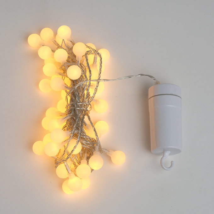 Mini Globe String Lights White : Lights.com String Lights Battery String Lights Frosted Warm White Mini Globe Battery ...