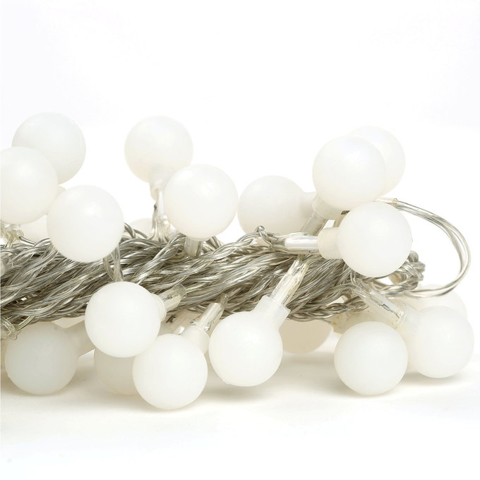 String Globe Lights White : Lights.com String Lights Battery String Lights Frosted Warm White Mini Globe Battery ...