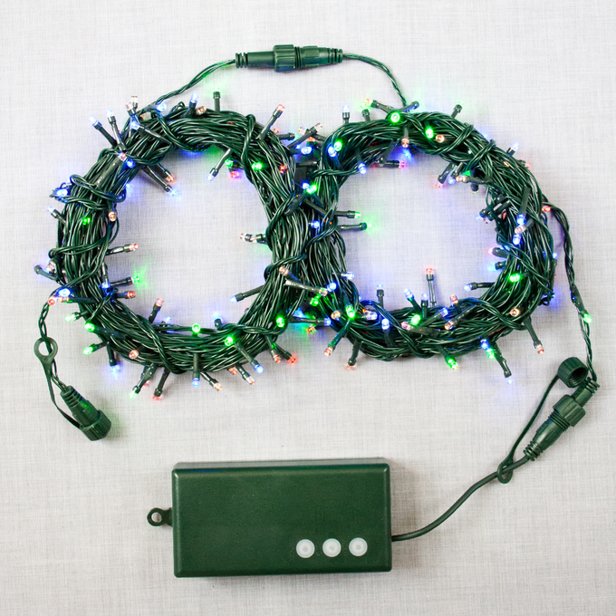 Lights.com String Lights Christmas Lights Multicolor 200 LED Battery-Powered Christmas ...