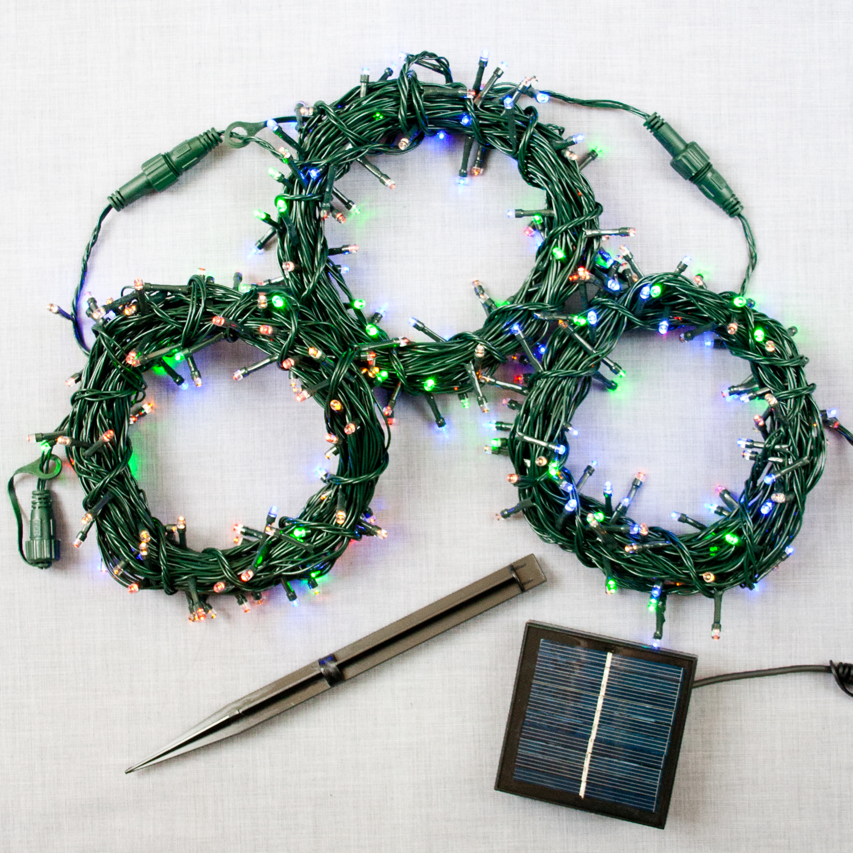 Lights.com Lit Decor String Lights Christmas Lights Multicolor 300 LED Solar-Powered ...