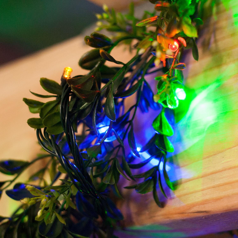 Lights.com Lit Decor String Lights Christmas Lights Multicolor 600 LED Solar-Powered ...