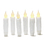 Resin Faux Drip Mini Taper Candles with Timer, Set of 6