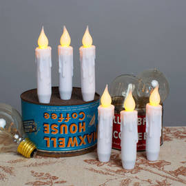 Resin Mini Taper Candles with Timer, Set of 6