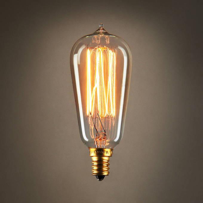 lightscom bulbs edison bulbs bushwick mini st10 vintage candelabra bulbs 40w e12 set of 4 - Antique Light Bulbs