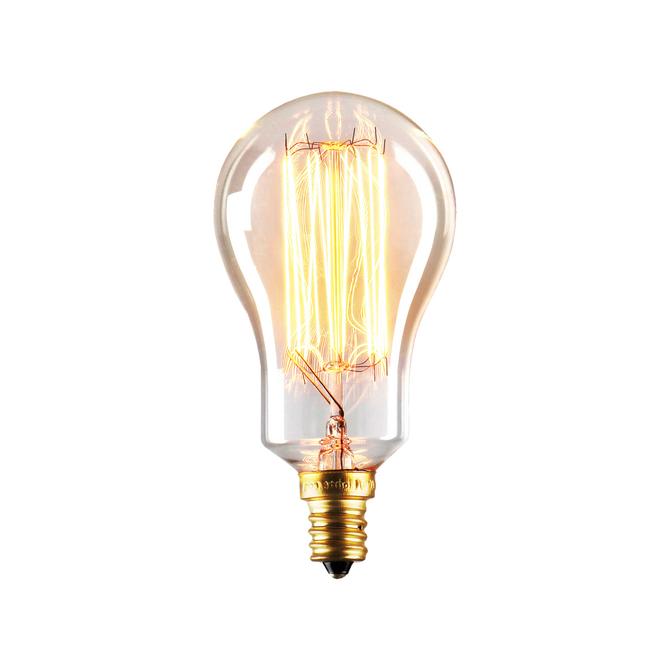 Coney Island Mini A15 Vintage Candelabra Bulbs, 40W (E12) - Set of 4