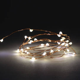 Starry Wire 50 LED Battery String Lights with Timer