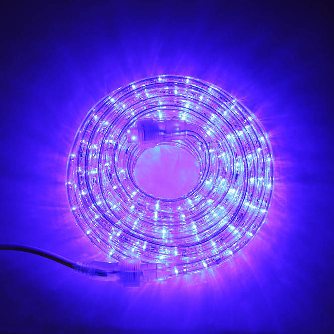 Super Bright Plasma Expandable LED Plug-in Rope Lights, Blue (24.5 ft)