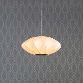 Faceted Hanging Cloth Ellipse Lantern Pendant