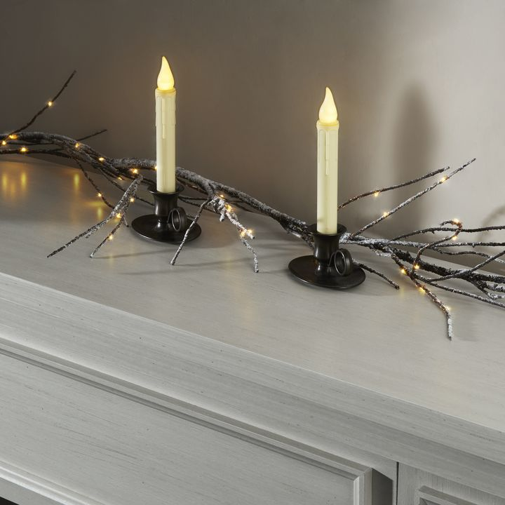 Candle Drips Wall Lights : Lights.com Flameless Candles Taper Candles Ivory 9