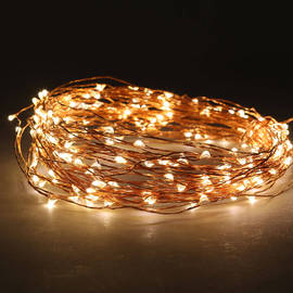 Warm White Constellation Series 200 LED Wire Plug-in String Lights