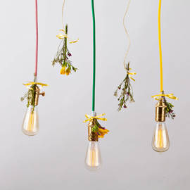 Metro Line Plug-In Pendant with Vintage Bulb