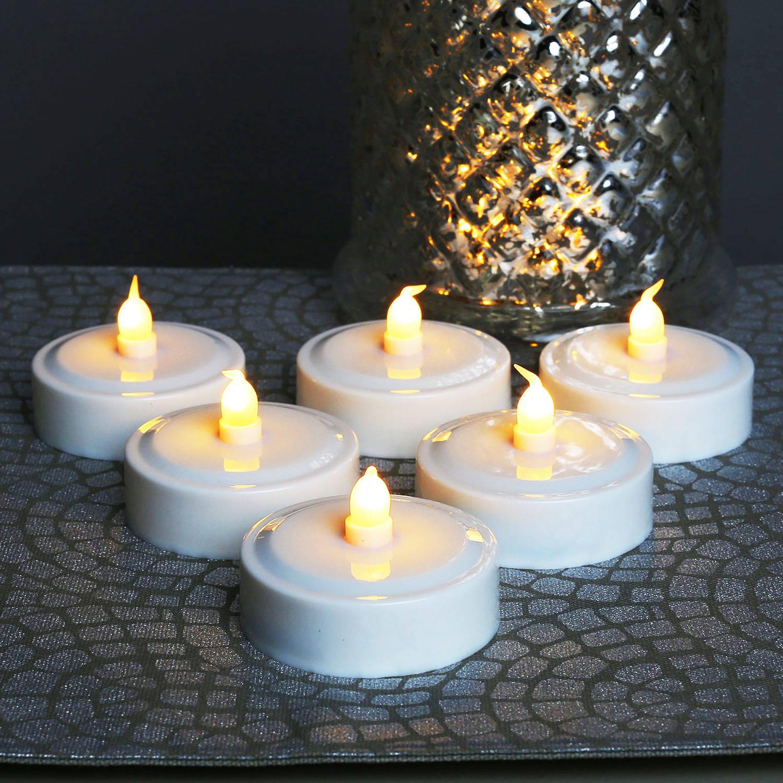 lights lit decor flameless candles tea lights