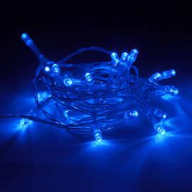 Extra Bright Blue 30 LED Battery String Lights, Set of 3