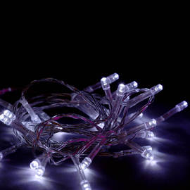 Extra Bright Cool White 30 LED Battery String Lights, Set of 3
