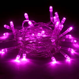 Extra Bright Pink 30 LED Battery String Lights, Set of 3