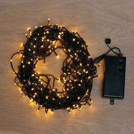Warm White Battery-Powered 300 LED String Lights with Timer, 93 ft.
