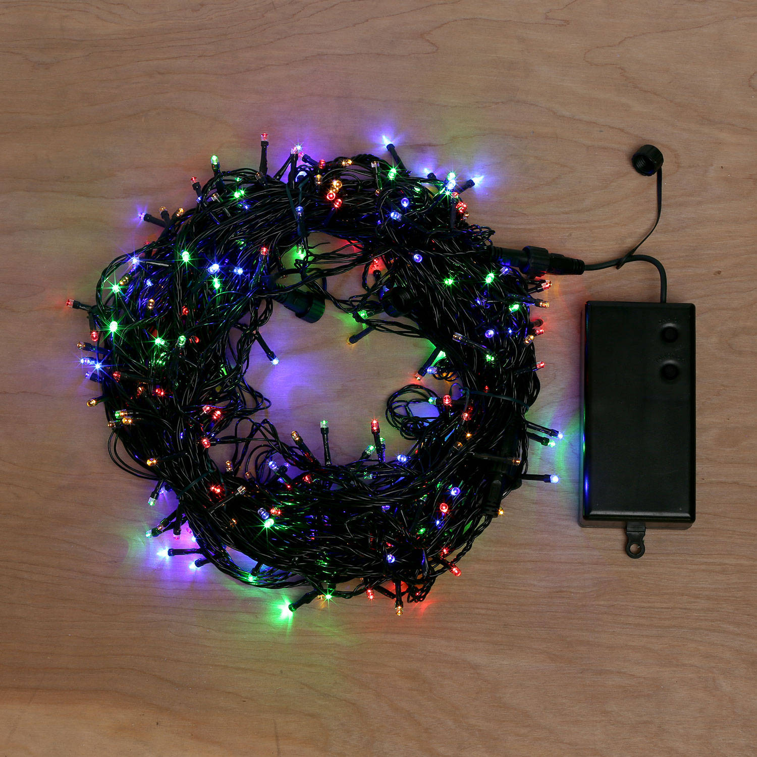 Battery Operated Led String Lights With Timer : Lights.com Lit Decor String Lights Christmas Lights Multicolor Battery-Powered 300 LED ...
