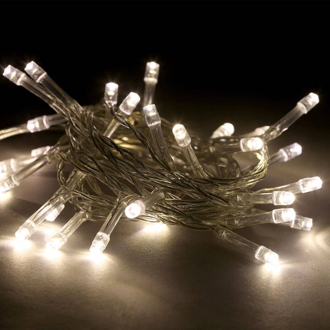 Super Bright Warm White 30 LED Battery String Lights, Set of 3