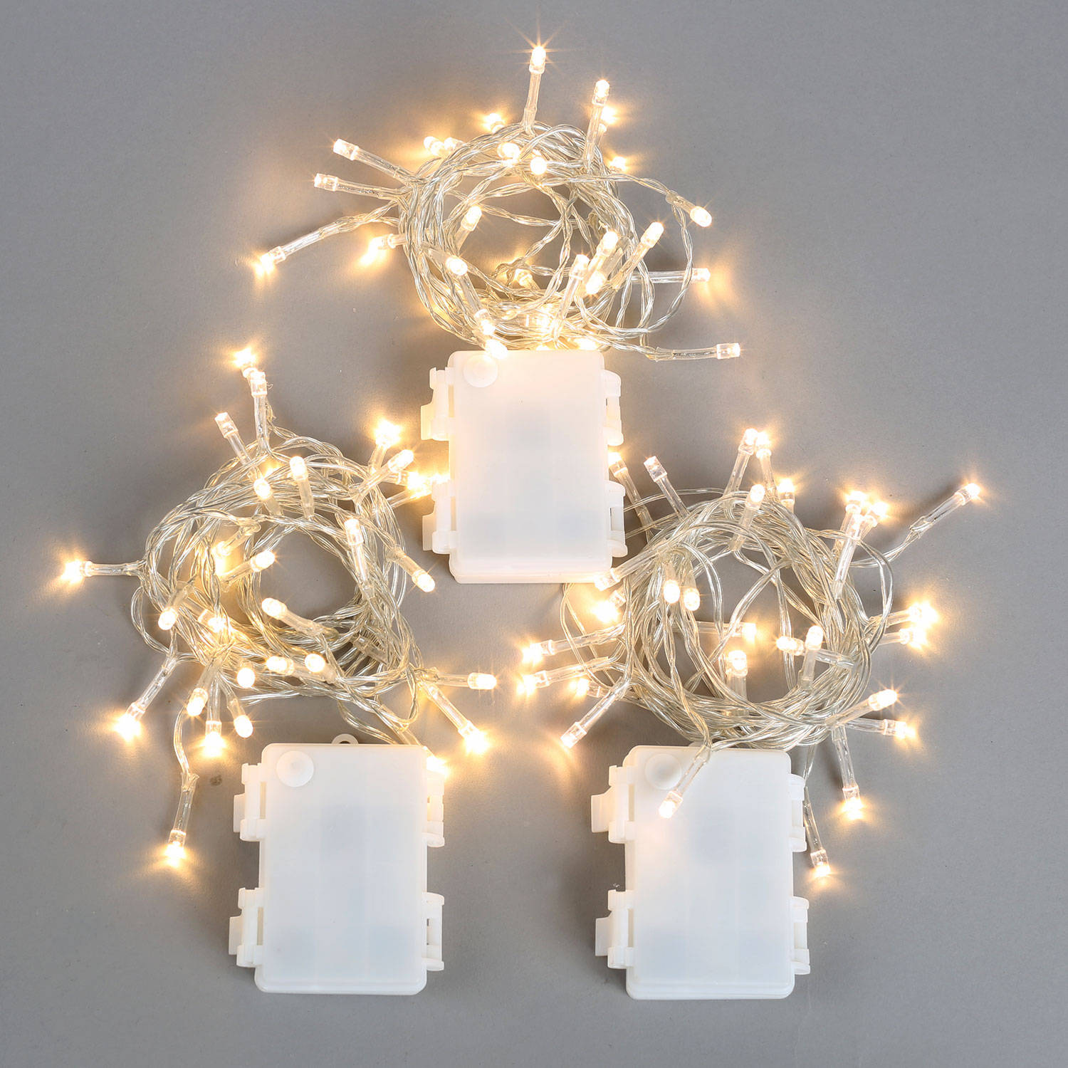 Accents White Led String Lights Battery Operated : Lights.com Lit Decor String Lights Christmas Lights Extra Bright Warm White 30 LED ...