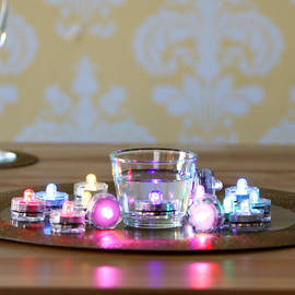 Flora Submersible Tea Lights, Set of 18