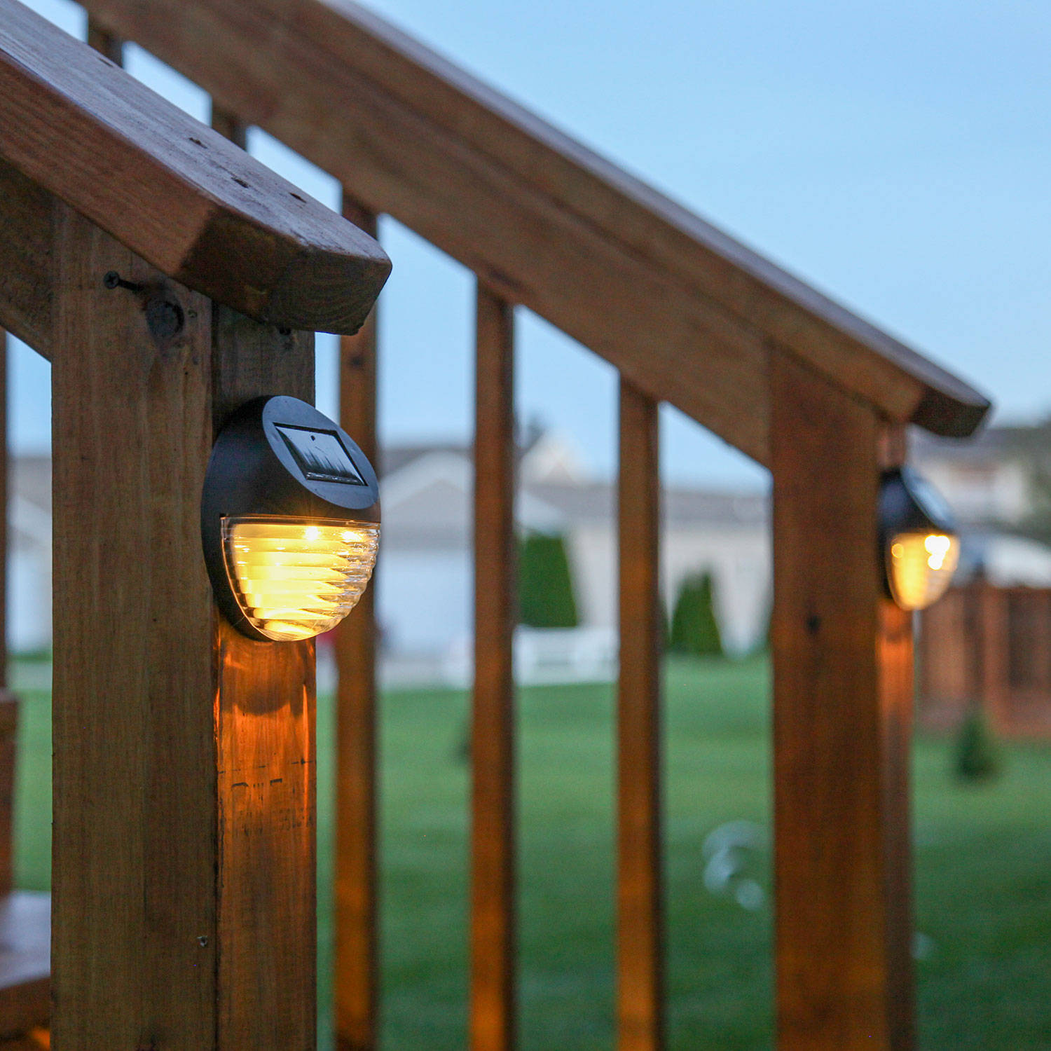 solar solar wall brown solar fence lights