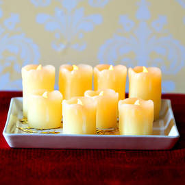 Dripped Wax Flameless Votive Variety Set