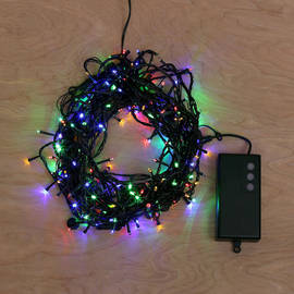 Multicolor Battery-Powered 200 LED String Lights with Timer, 62 ft.